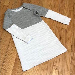 Gap Kids Two Tone Quilted Sweatshirt Dress